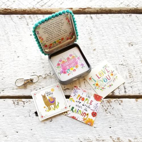 Think Happy Tiny Tin Happy Notes