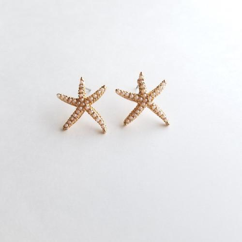 Astro Pearl Starfish Studs