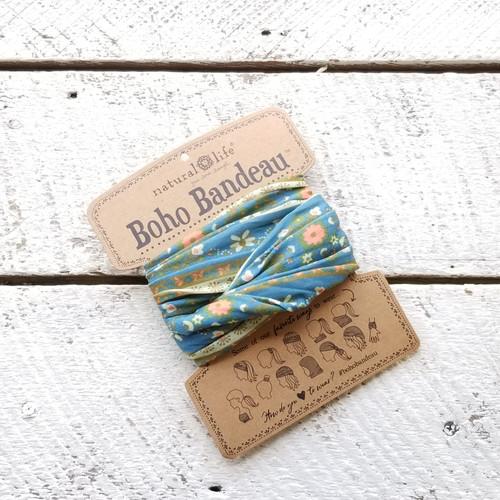 Boho Bandeau - Blue Flower Medal