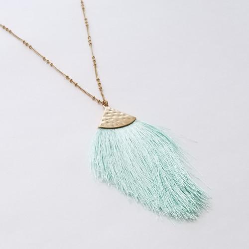 Mintaka Fringe Necklace - Mint