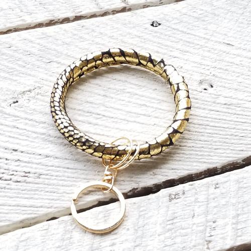 Ria Keychain Bangle - Gold Black
