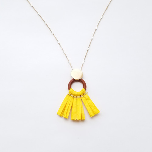 Taygeta Paper Necklace - Yellow