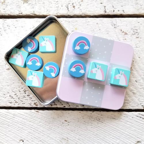Magnetic Tic Tac Toe Sets Unicorn