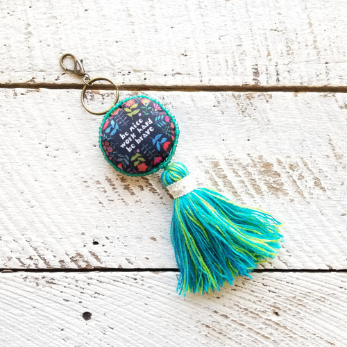 Mantra Keychain - Be Nice Work