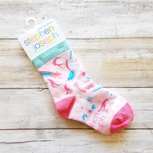 Toddler Socks - Pink Unicorn
