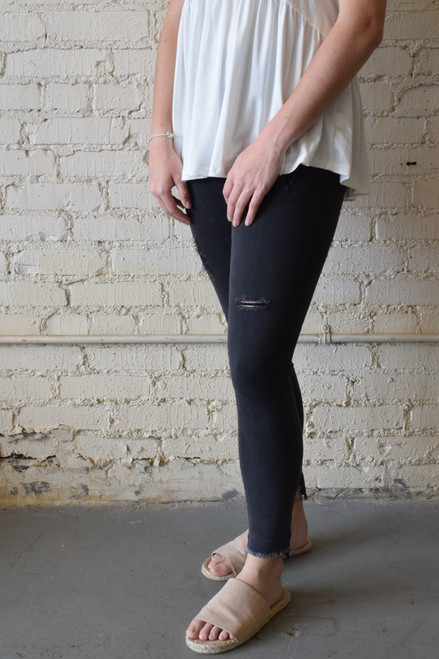 Max Denim Leggings  Black