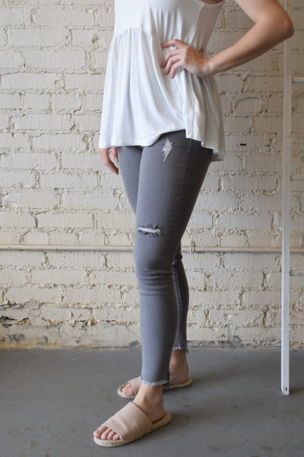 Max Denim Leggings Gray