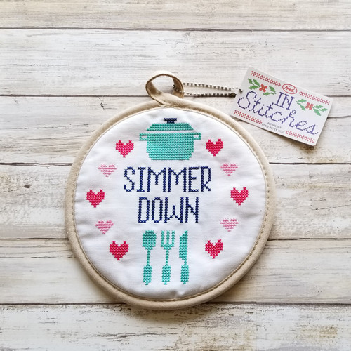 In Stitches Potholder - Simmer Down