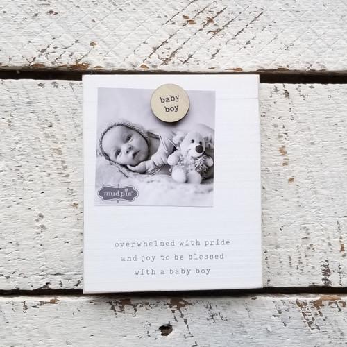 Baby Boy Magnet Wood Frame