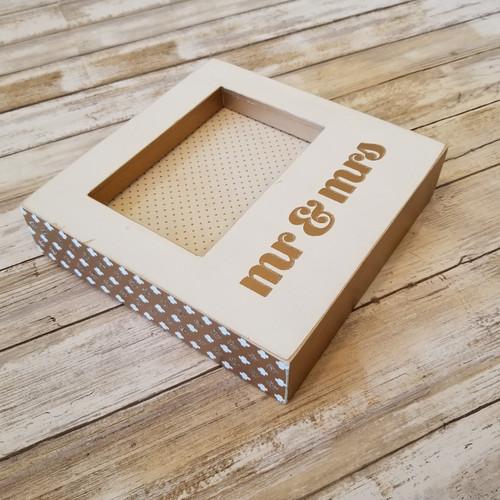 Box Sign Frame - Mr. & Mrs.