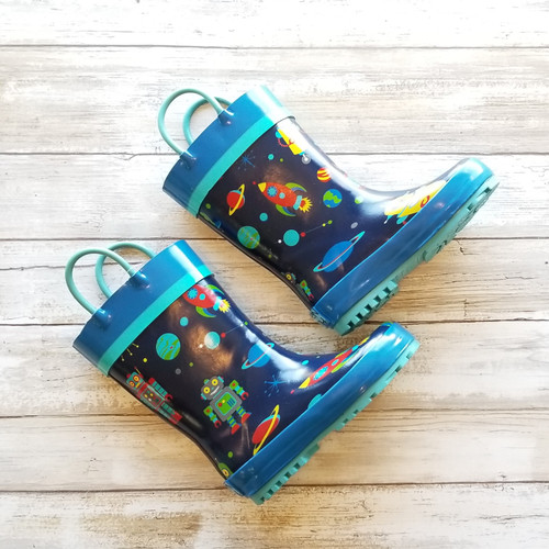 All Over Print Rainboots - Youth Size 9