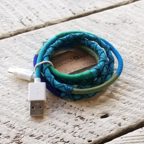iPhone Cord Turquoise Green