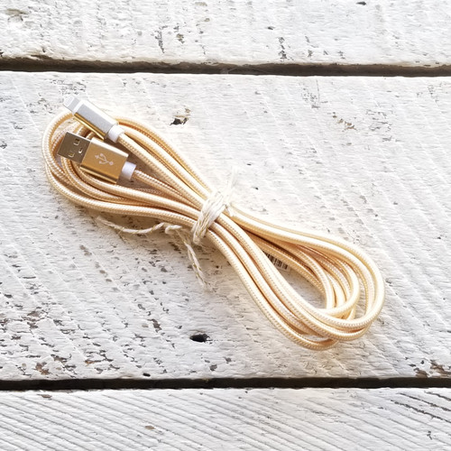 Woven iPhone 6 Foot Charger - Gold