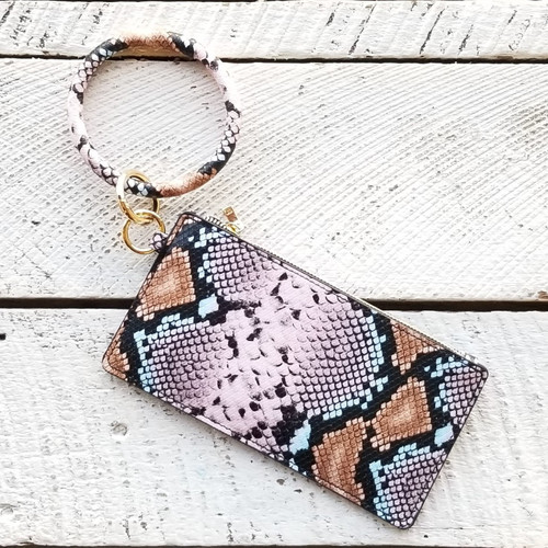 Agkist Copperhead Bangle Wristlet - Pink Python