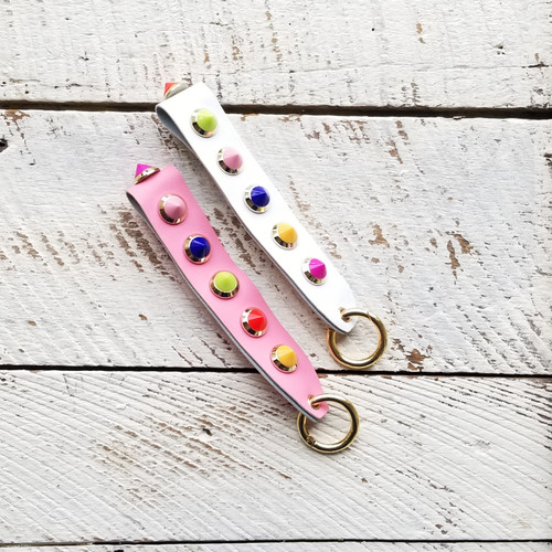 Button Candy Keychain - White