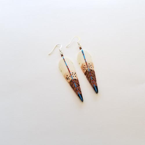 Siouan Feather Earrings Medium