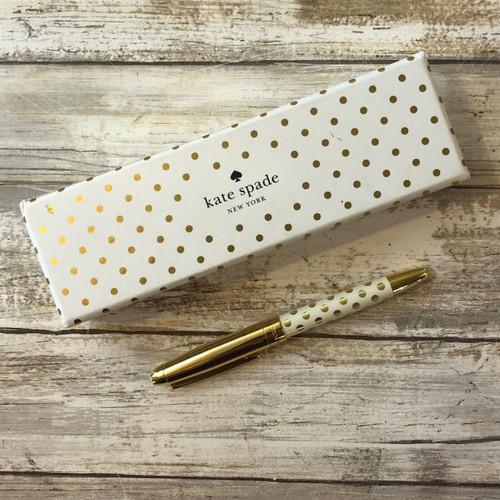 Ballpoint Pen Gold Dots