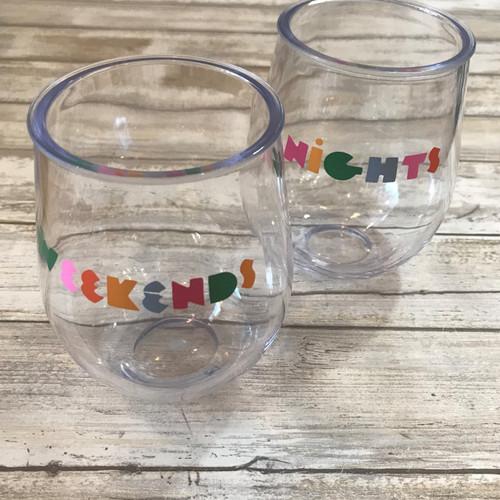 PartyOnAcrylic Cup Set - Nights and Weekends