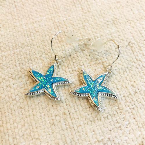 Soundside Starfish Dangles - Turquoise Shimmer