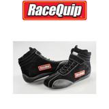 RaceQuip 30500105 Size 10.5 Euro SFI Racing Driving Shoes Black Suede Carbon-L