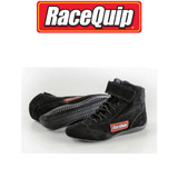 RaceQuip 30300100 Size 10 Mid-Top SFI Racing Driving Shoes Black Suede Karting