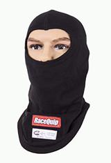 RaceQuip 433991 SFI 3.3 Fire Retardant Underwear Head Sock Balaclava Hood Black