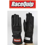 RaceQuip 355007 355 Series 2 Layer Nomex Race Gloves SFI 3.3/ 5; Black 2X-Large