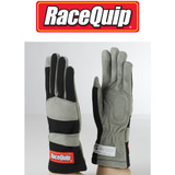 RaceQuip 351002 BLACK S Small SFI 3.3/1 1-Layer Racing Race Driving Gloves