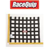 RaceQuip 726004 Ribbon Style Race Car Window Net SFI 27.1; Black 18 H X 21 W
