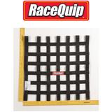 RaceQuip 726003 Ribbon Style Race Car Window Net SFI 27.1; Black 18 H X 18 W