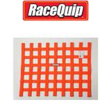 "RaceQuip 725045 Window And Roll Cage Net SFI 18""Hx24""W Orange Ribbon"