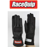 RaceQuip 355002 355 Series 2 Layer Race Gloves SFI 3.3/5 Certified Black Small