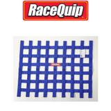 """RaceQuip 725025 Window Safety Net SFI 27.1 Certified 18"""" x 24"""" Ribbon Style Blue"""