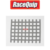 RaceQuip 721065 Ribbon Style Race Car Window Net; Platinum 18 H X 24 W