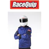 RaceQuip 121025 Multi Layer Racing Driver Fire Suit Jacket; Blue Large