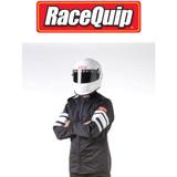 RaceQuip 121007 Multi Layer Racing Driver Fire Suit Jacket; Black 2X-Large