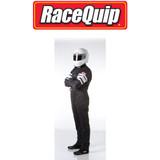 RaceQuip 120005 Large Black Multi-Layer 120 Series Race Racing Driving Suit SFI