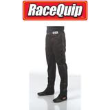 RaceQuip 112008 Single Layer Racing Driver Fire Suit Pants; Black 3X-Large