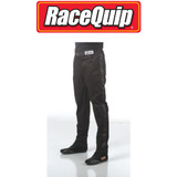 RaceQuip 112003 Single Layer Racing Driver Fire Suit Pants; Black Medium