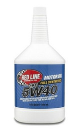 Red Line Motor Oil 15404 - 5W40 - Synthetic - 1 quart