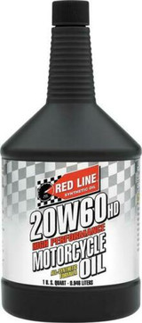 Red Line 12604 20W60 Heavy Duty Motorcycle Synthetic Oil - 1 Quart