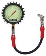 ALLSTAR PERFORMANCE ALL44046 Tire Pressure Gauge 0-15 PSI 4in Glow