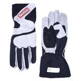 RaceQuip 356605 356 Series Gray/Black Nomex Outseam L Race Gloves w Closure