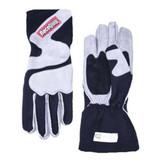 Racequip 356602 Racing Gloves, 356 Series, SFI 3.3/5, Nomex, Black/Gray, Small