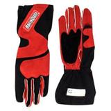 Racequip 356106 Racing Gloves, 356 Series, SFI 3.3/5, Nomex, Black/Red, X-Large