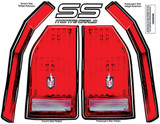 ALLSTAR PERFORMANCE ALL23017 M/C SS Tail Decal Kit 1983-88