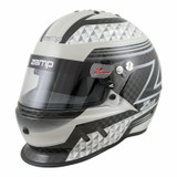 Zamp Racing H775C15S RZ-65D Racing Helmet SA2020 Certified Small Black & Gray