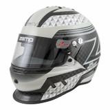 Zamp Racing H775C15M RZ-65D Racing Helmet SA2020 Certified Medium Black & Gray