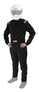 RaceQuip 91609069 One Piece Multi Layer Racing Driver Fire Suit; Black X-Large