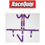"""Racequip 709059 Jr. Dragster/Quarter Midget 5-Point Latch Purple 2"""" Seat Belt"""